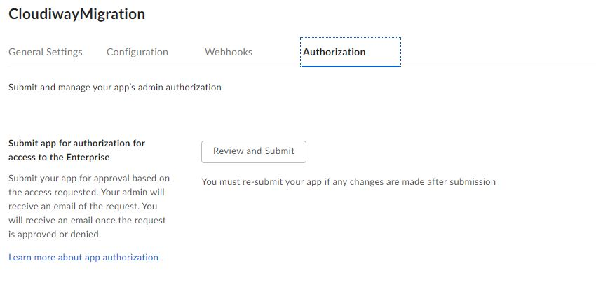 Box Authorization App
