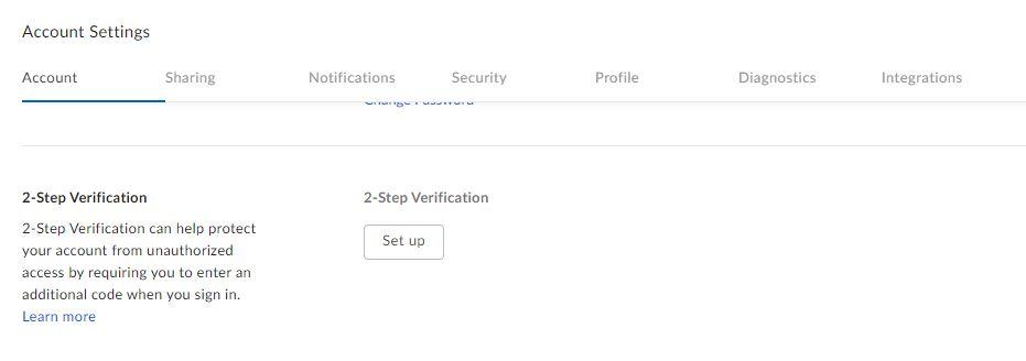 Box account 2 step verification