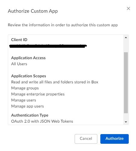 Box client ID