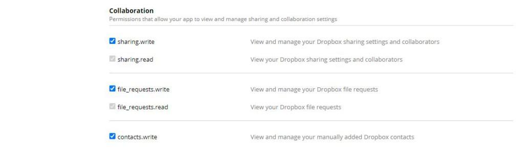 Dropbox Permissions Collaboration