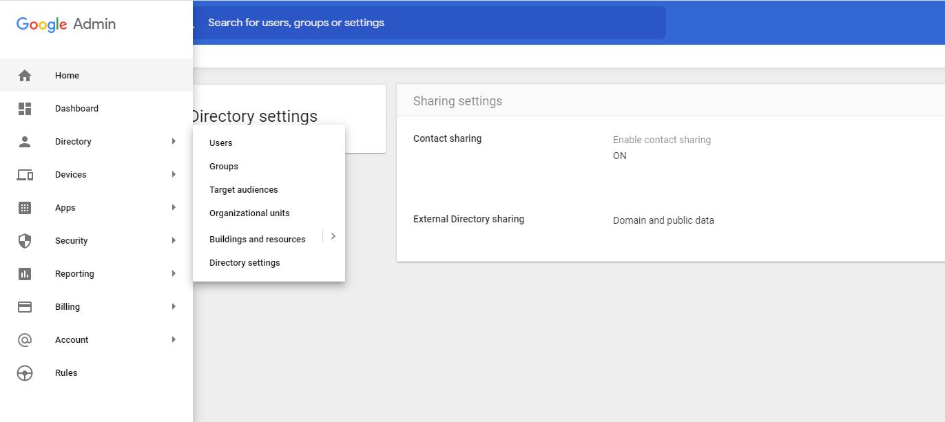 Google Settings Contact Sharing Settings