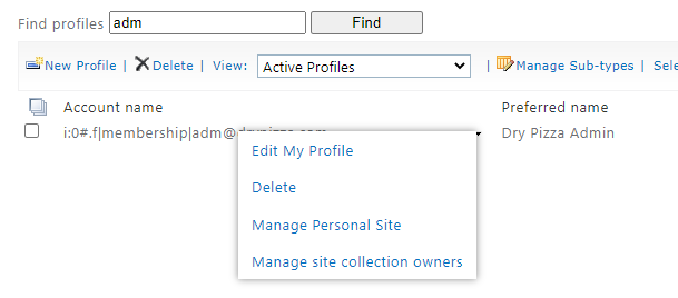 SharePoint Manage Site Collection Owners