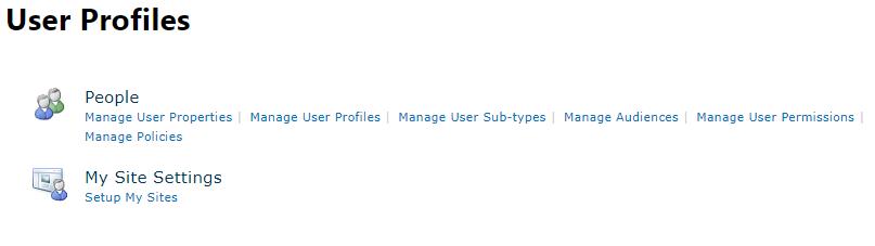 SharePoint Manage Profile