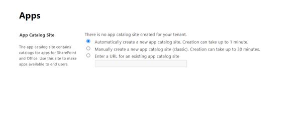 Create App Catalog