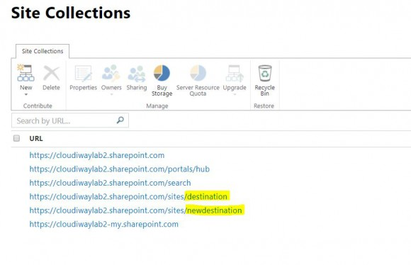 ms teams admin center sharepoint sites
